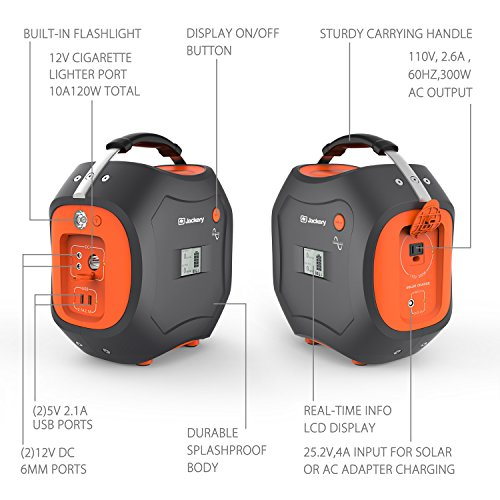 Jackery-PowerPro-500Wh-Portable-Power-Station-Rechargeable-Battery-Pack-Generator-with-110V300W-AC-Inverter-12V-Car-USB-Output-Clean-Off-grid-Power-Supply-with-Integrated-Flashlight-for-Outdoor