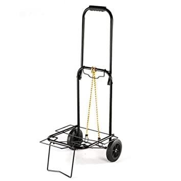 AQAWAS Praktischer Doppelrad Handhabungswagen, Bewegliches Treppen Auto,  Rollender Einkaufswagen, Faltbarer Wagen