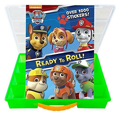 My Sticker And Storage Kits  Official Paw Patrol Sticker Book with Mini Figures Compatible Storage Organizer. Stores Up to 30 Mini (Paw Patrol Chase Toddler Costume)