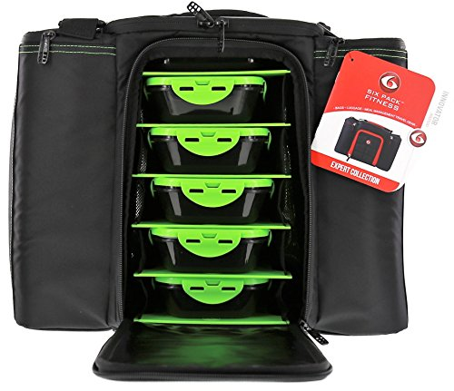 6 Pack Fitness Bag Innovator 500 Black/Neon Green (5 Meal) by 6 Pack Fitness (Image #2)