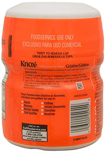 Knox Gelatine Unflavored Clear, Bulk 16 Ounce (Pack of 2) - with Measuring Spoons by By The Cup (Image #3)