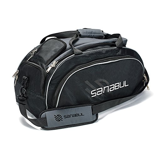 Sanabul HYBRID MMA BJJ Gym Duffel Backpack Bag (Silver, Large)