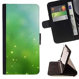 For Sony Xperia Z3 Compact / Z3 Mini (Not Z3) Case , Naturaleza Hermosa Forrest Verde 52- la tarjeta de Crédito Slots PU Funda de cuero Monedero caso cubierta de piel