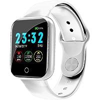 Mode roestvrij staal Smart horloge Dames Man Sport horloge Elektronisch horloge Fitness Tracker Vierkant Dames Smartwatch
