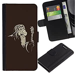Ihec-Tech / Flip PU Cuero Cover Case para Sony Xperia Z1 Compact D5503 - Cool Funny Mask Old Wizard