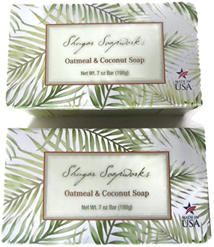 all-natural-shugar-soapworks-oatmeal-coconut-bar-soap-made-in-usa-7-oz-bar-2-packs