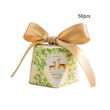 Amazon.com: Cajas de regalo Firlar, 50 unidades, cajas de ...