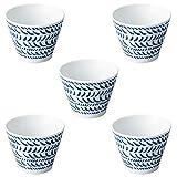 Worthy Graphics 5 pieces Blue Medium Bowl