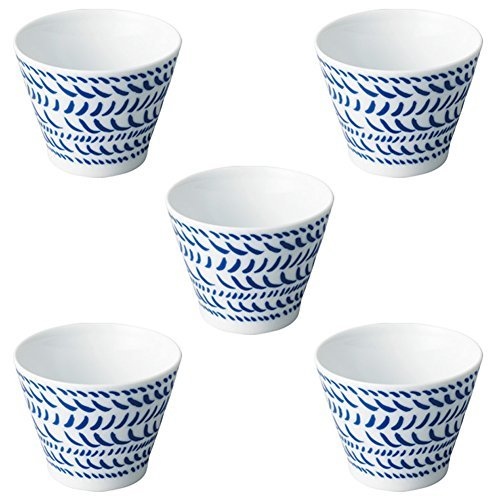 Worthy Graphics 5 pieces Blue Medium Bowl by Kinto (Image #2)