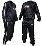 Heavy Duty Sweat Suit Sauna Exercise Gym Suit Fitness Weight Loss Anti-Rip (5XL)