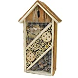 Gardirect Natural Insect Hotel, Bee and Butterfly House, Large Size (14-3/4'' Tall x 8'' Wide)