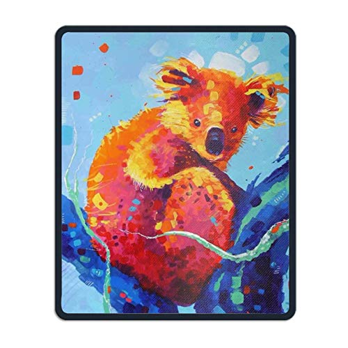 Personalized Rectangle Mouse Pad, Printed Pop Koala,Non-Slip Comfortable Computer Mouse Pad -