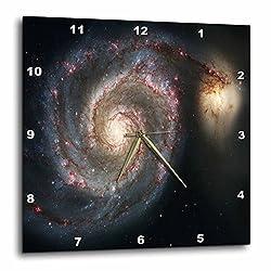 3dRose Photo of Whirlpool Galaxy M 51 Messier - Wall Clock, 15 by 15-Inch (dpp_80620_3)