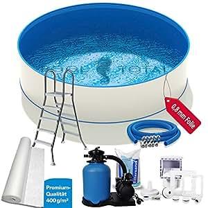 Pool Juego de Premium + Diámetro 3,00x 1,20m, 0,6mm Acero, 0,8mm con protector