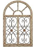 Deco 79 66778 Wooden Gate Style Garden Wall Plaque