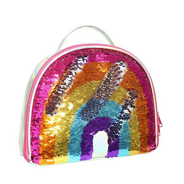 IAMGlobal Insulated Mermaid Lunch Box, Reversible Sequin Lunch Tote Bag, Lunch Box Insulated Lunch Bag For Girls Boy 3