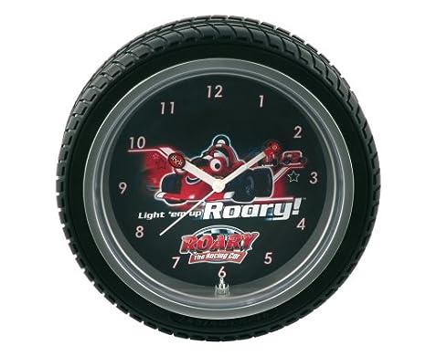 Wesco - Reloj de pared, diseño de Roary, El carrito veloz con marco de neumático: Amazon.es: Hogar