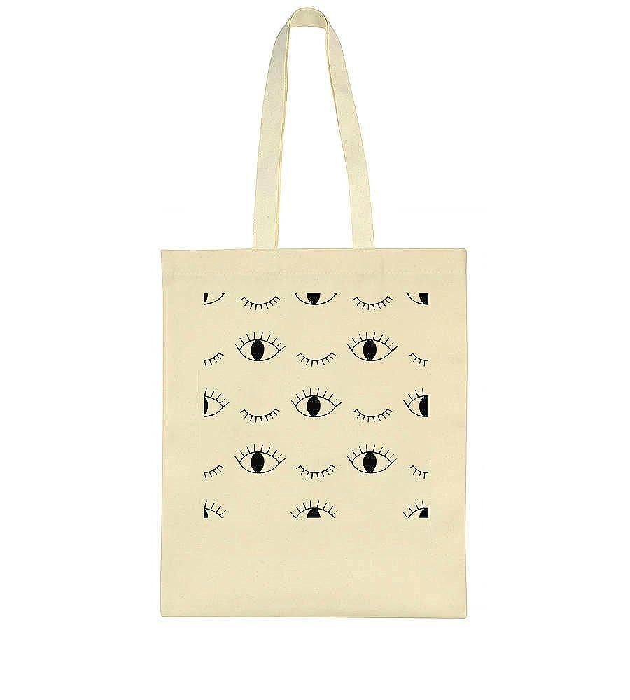 idcommerce Many Eyes Blinking Pattern Tote Bag
