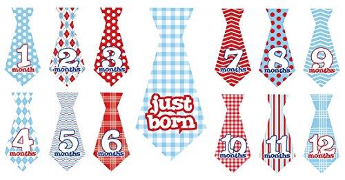 12pcs Wonderful Ties with Just Born Uucut Stripe