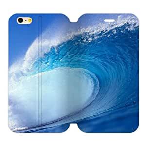 """Fashion Back Cover - Great Wave On Ocean TPU (Laser Technology) Case Skin for iPhone6 Plus 5.5"""" Flip Case"""