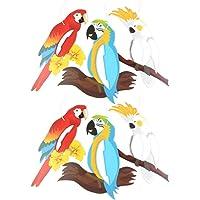 PRETYZOOM 6 Piezas Hawaianas Colgando Pájaros Panales Papel