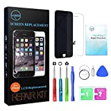 Black for iPhone 7 Screen Replacement with 3D Touch - LYESS LCD Display Touch Digitizer Frame Assembly Set for iPhone 7 4.7 inch, Free Tools Kit Included