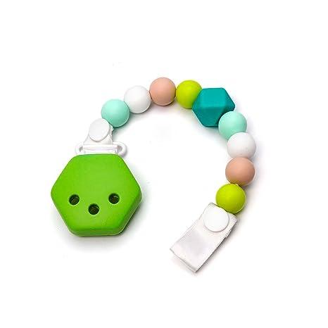 RUBY - Chupetero hexágono para bebe con bola silicona antibacteria ...