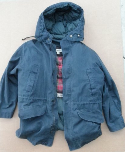 London Fog Downed Double Layer Parka Jacket with Hoodie - Large
