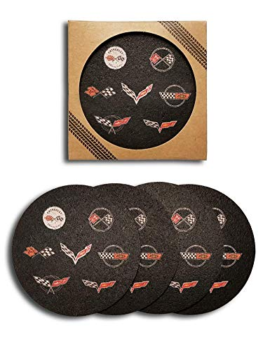 Corvette Generations Recycled Rubber Tire Coaster Set -