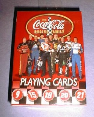 CocaCola Nascar Playing Cards