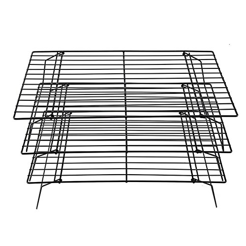3 Layers Stackable Cooling Rack Metal Cake Cookie Biscuits Bread Cooling Rack Net Mat Holder Dry