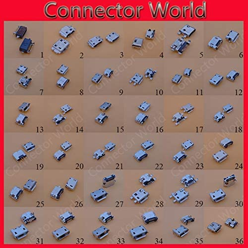 Gimax 36 models 180pcs//lot micro usb jack connector 5 pins mini usb connector for Samsung HTC Lenovo ZTE.mobile phone tablet pc mid