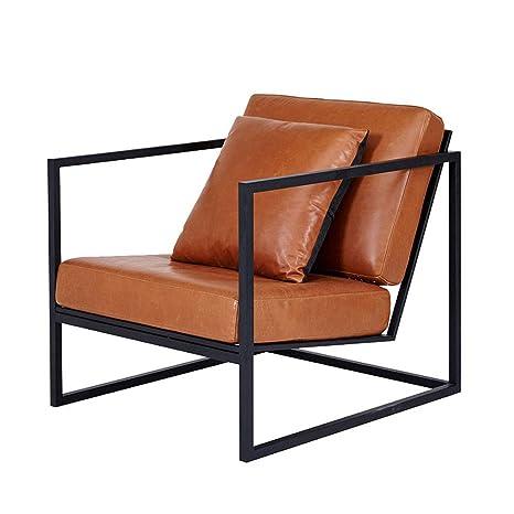 Amazon.com: GKPLY Single Wrought Iron Sofa Leisure Armchair ...