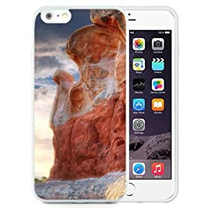 NEW Unique Custom Designed Iphone 5/5S Phone Case With Valley Canyon Rocks_White Phone Case