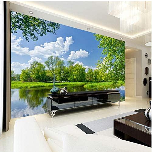 Wkxzz 壁の背景装飾画 自然の風景の壁紙風景壁画ステッカーリビングルームの寝室の装飾壁画-250X175Cm