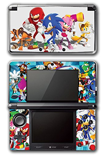 Sonic Boom Hedgehog Tails Amy Rose Knuckles Eggman Shattered Crystal Fire & Ice Orbot Cubot Shadow Video Game Vinyl Decal Skin Sticker Cover for Original Nintendo 3DS System
