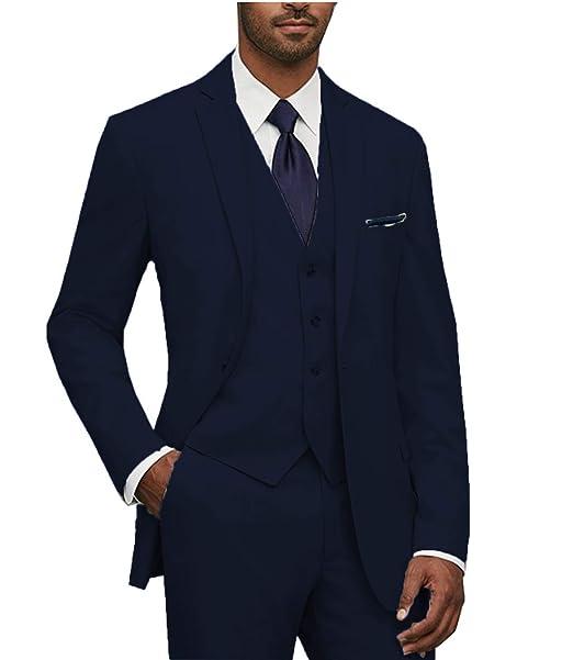 Amazon.com: Ysmo hombre Slim Fit traje chamarra, chaleco ...