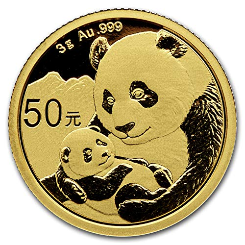 - 2019 CN China 3 gram Gold Panda BU (Sealed) Gold Brilliant Uncirculated