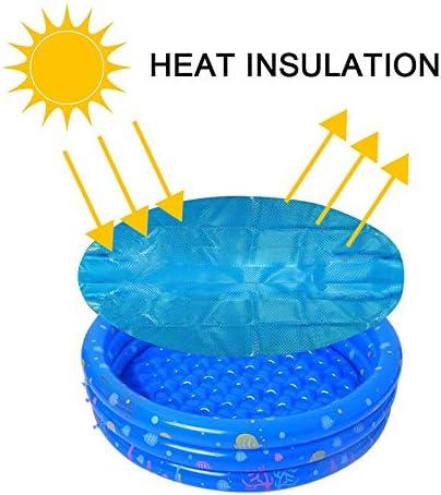 Protector de Piscina Cubierta de Polvo a Prueba de Lluvia Resistente a los Rayos UV para el hogar MDWK Cubierta de Piscina Redonda-Cubierta de Piscina Solar 4//5//6 FT