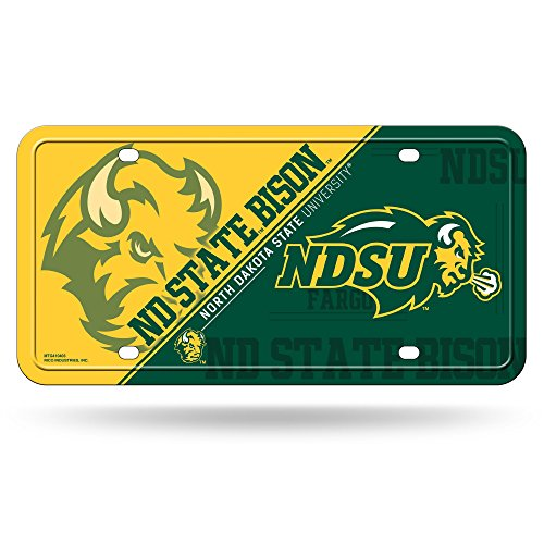 Rico NCAA North Dakota State Bison Metal License Plate Tag ()