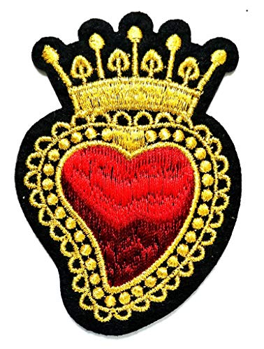 PP Patch Beautiful Red Heart Crown Royal King