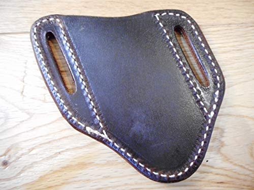 Pancake Custom Leather Knife Sheath fits a Buck 110/112 Left or Right Draw. Buffalo Leather. Dark Oiled For Sale