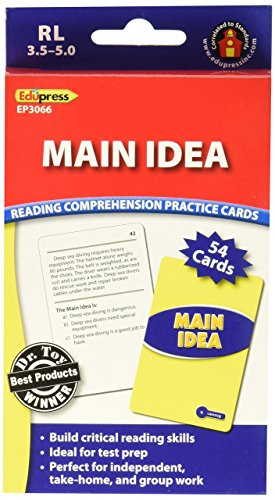 Edupress EP63066 Main Idea Practice Cards Blue Level