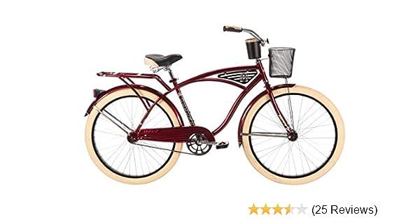 Amazon.com : Huffy Bicycle Company Men\'s Deluxe Cruiser Bike, 26 ...