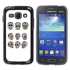 For Samsung Galaxy Ace 3 - Cool Cute Sugar Skull /Modelo de la piel protectora de la cubierta del caso/ - Super Marley Shop -