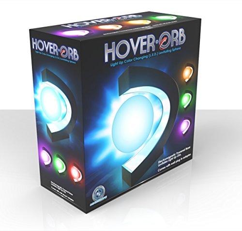 Mindscope HoverOrb Multi-Color Light Up LED Levitating Electromagnetic Sphere Night Light Desk Lamp with LED Plug In Base