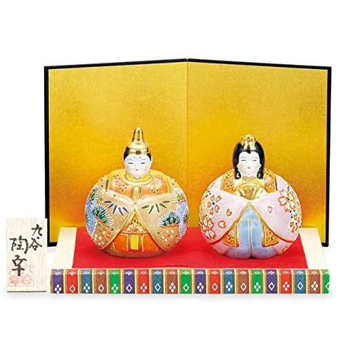 Japanese drawn Ceramic Porcelain kutani ware. Hina ningyo doll displayed during the Girls' Festival '' Japanese ceramic Hagiyakiya 1439 by Kutani