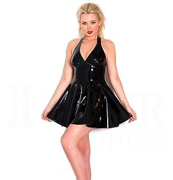 YCCDDY Traje Negro de PVC Vestido de Falda de Noche Show ...