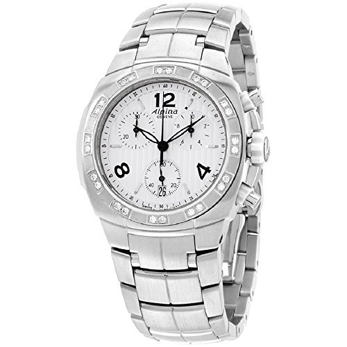 Alpina Avalanche Silver Dial Stainless Steel Diamond Ladies Watch AL350LWWW2AD6B
