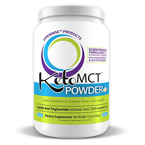 C8 Keto MCT Oil Powder Sourced from Coconut Oil, Zero Corn or Milk Derivatives, Developed in USA by PhD Nutrition, Keto Friendly